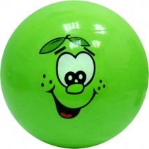 Мячик цветной с мордочкой d=12 см пластизоль