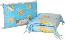 Бортик в кроватку голубой на замке, Baby Care