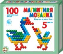 Мозаика магнитная 100 эл. 5 цветов, Десятое королевство
