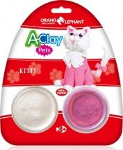 """Пластилин Orange Elephant """"Домашние животные. Кошечка"""" 2 цвета"""