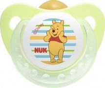 Пустышка Nuk Trendline Disney ортодонт. латекс. 6-18 мес, Винни зеленый