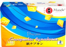 Салфетки бумажные Maneki Dream белые 150 шт