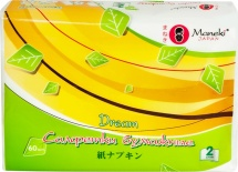 Салфетки бумажные Maneki Dream белые 60 шт