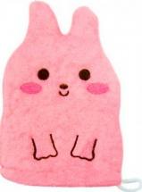 """Мочалка-рукавичка Kokubo Furocco Kids """"Кролик"""" розовый"""
