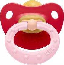 Пустышка Nuk Classic Soft красный латекс ортодонтическая с 6 до 18 мес
