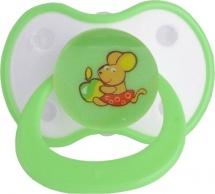 Пустышка Мир детства Мышка силикон симметричная с 0 мес 2 шт