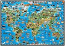 Карта мира детская (настольная)