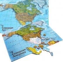 Карта-пазл. Северная Америка