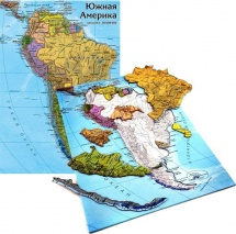 Карта-пазл. Южная Америка