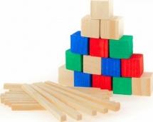 Счетный материал Лесная мастерская 28 палочек 12 кубиков