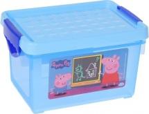 """Ящик для хранения игрушек """"Свинка Пеппа"""" 5,1 л голубой"""