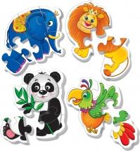 "Пазлы мягкие Vladi Toys ""Baby puzzle Зоопарк"" 18 деталей"