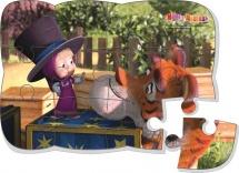 """Пазлы магнитные Vladi Toys """"Маша и медведь. Маша и тигр"""" 12 деталей"""
