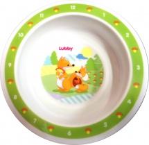Тарелка Lubby Веселые животные Лисички 400 мл