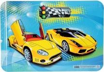 """Настольное покрытие для лепки Eveready А4 """"Два желтых авто"""""""