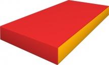 Мат Romana 100х50х10 см, красный/желтый