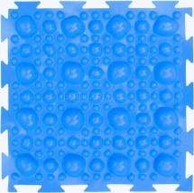 """Массажный коврик Орто """"Камни"""" мягкий 25x25 см, голубой"""