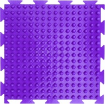 """Массажный коврик Орто """"Шипы"""" мягкий 25x25 см, фиолетовый"""