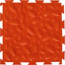 Массажный коврик Орто Шишки мягкий 25x25 см, оранжевый