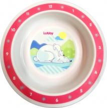 Тарелка Lubby Веселые животные Мишки 400 мл