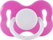 Пустышка Lubby Круглая розовая латекс круглая с 3 мес