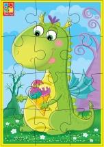 """Пазл Vladi Toys """"Динозаврик с мороженым"""""""