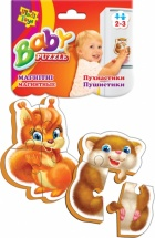 Пазлы магнитные Vladi Toys Baby pazzle. Пушистики