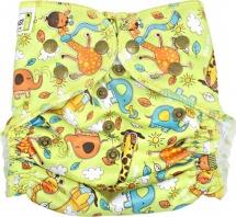 Многоразовый подгузник GlorYes для плавания (3-18 кг) жирафы