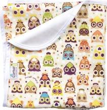 Пеленка GlorYes непромокаемая 80х68 см, совы