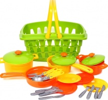 Набор посуды Орион в корзине