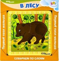 """Первый пазл малыша Steppuzzle Baby Step """"В лесу"""""""