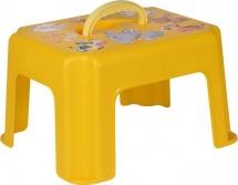 Табурет-подставка Idea c ручкой, желтый