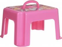 Табурет-подставка Idea c ручкой, розовый