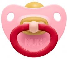 Пустышка Nuk Classic Soft розовая латекс ортодонтическая с 6 до 18 мес