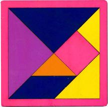Головоломка Грат Танграм, цветной