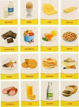 Обучающие карточки ЛасИграс Продукты питания 16 шт
