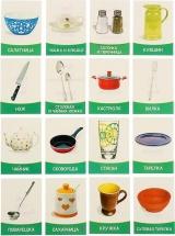 Обучающие карточки ЛасИграс Посуда 16 шт