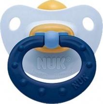 Пустышка Nuk Classic Soft голубой латекс ортодонтическая с 6 до 18 мес