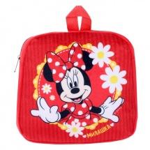 """Рюкзак детский Disney """"Милашка. Минни Маус"""" плюшевый 24.5 х 24.5 см"""