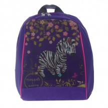 "Рюкзак детский Rinax ""Зебра"" на молни, фиолетовый"