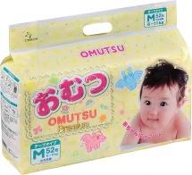 Подгузники Omutsu M (6-11 кг) 52 шт