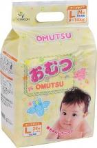 Подгузники Omutsu L (9-14 кг) 24 шт