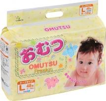 Подгузники Omutsu L (9-14 кг) 48 шт