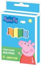 """Мелки Росмэн """"Peppa Pig"""" 6 цветов"""