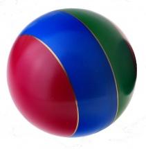 Мяч лакированный с полосой d=200 мм