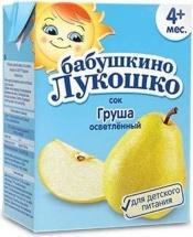 Сок Бабушкино лукошко Груша осветленный с 4 мес 200 мл