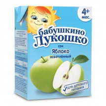 Сок Бабушкино лукошко Яблоко осветленный с 5 мес 200 мл