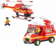 Конструктор Sluban Пожарные спасатели. Пожарная часть аэропорта 211 дет