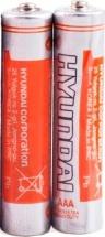 Батарейка Hyundai AAA R03 солевая 2 шт