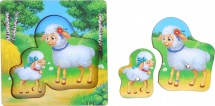 """Рамка - вкладыш """" Овца и ягненок"""""""